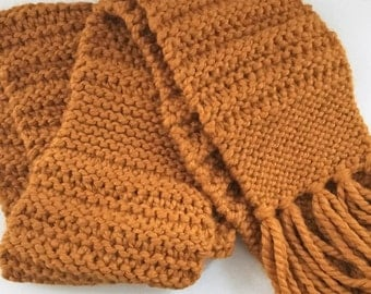 Butterscotch Fringe Scarf