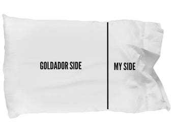 Goldador Pillow Case - Funny Goldador Pillowcase - Goldador Gifts - Goldador Dog Side My Side