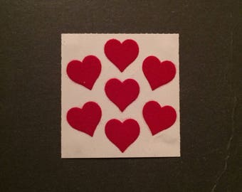 Sandylion vintage rare fuzzy red heart stickers