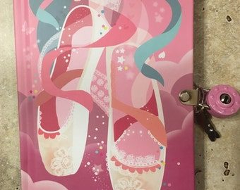 Ballet Slippers Locked Diary with keys