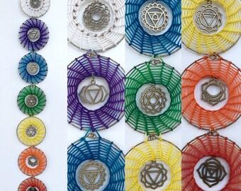 Spiralling Chakra Dream Catcher Hanging