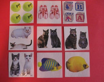 Lot of 9 Sticky Pix sticker modules