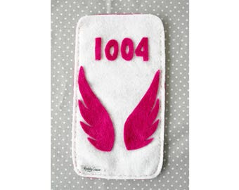 "Pouch for smartphone, KPOP accessory, name of the music ""Angel"" (1004) of the boysband B.A.P, TS Entertainment, handmade accessory for baby"