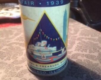 Libby's 1939 Treasure Ship World Fair bank tin