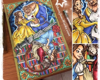 Beauty and the Beast | Once Upon a Time | Original Fan Art 2 in 1