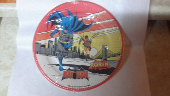 batman 1966 sealed paper plates 8 pack