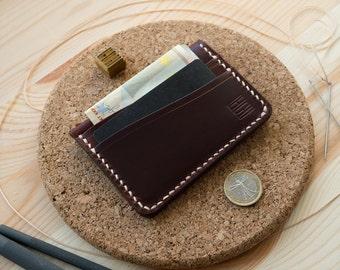 Personalized  Front Pocket Wallet  Cardholder Horween Chromexcel Tan Leather