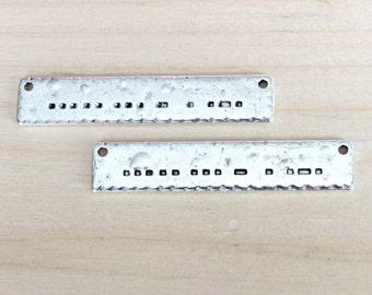 Sister morse code pendant, set of 4, morse code pendants, silver pendant, sister pendant, sister charm, sister connector, morse code charm