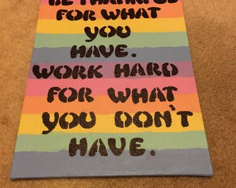 Inspirational quote on canvas 6