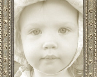 Thin Silver Florette Ornate Picture Frame
