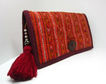 Handmade Ethnic Embroidered long wallet Bi-fold