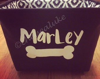 Personalized Dog Toy Bin