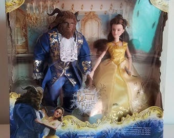 Beauty and the Beast Belle and Beast Grand Romance Dolls