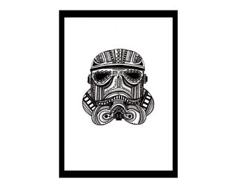 Stormtrooper Tribal print