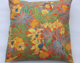"Classic floral pattern cushion cover 18x18"" (45x45cm)"