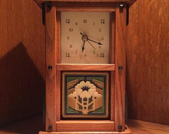 Mission Bungalow Mantel Clock
