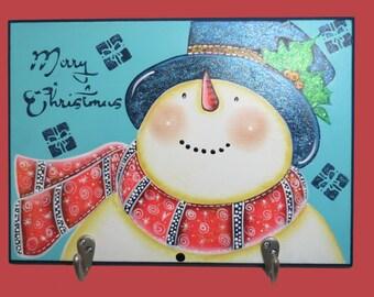 Snowman Key Holder, Christmas Decoration