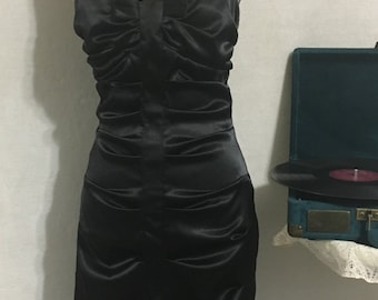 Vintage Black satin party dress