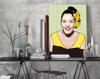 Tribute to Bessie Smith FRAMED ART, personalized gift, pop art, Wall Art, Personalisierter Kunstdruck, gift for women, gift for men