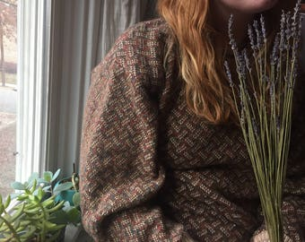 Vintage Crosshatched Grandpa Sweater
