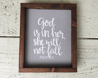 She Will Not Fall - Mother's Day Sign