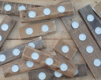 Pallet Tea Light Holders