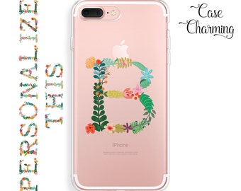 Initial iPhone 7 Plus Case Floral iPhone 6s Plus Case iPhone 7 Case iPhone 6s Case iPhone 6 Case iPhone SE Case iPhone 6 Plus Monogram Case