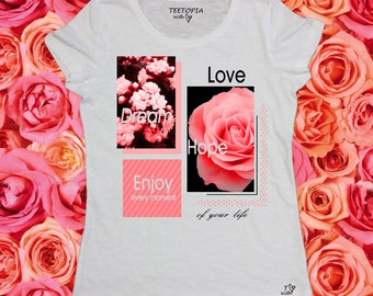 LOVE ROSES - t-shirt donna