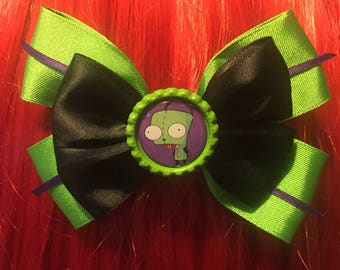 Invader zim , gir hair bow