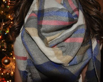Most popular selling,Plaid Blanket Scarf,Cotton Blanket scarf, Plaid Scarf, Blanket plaid scarf, Trendy