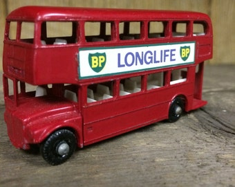 1960's vintage matchbox Routemaster Bus English double decker bus London