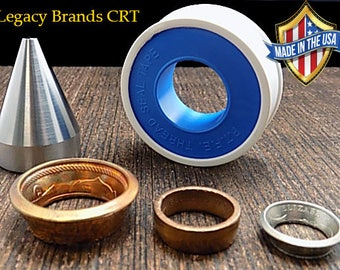 "Coin Ring Tools: Folding Cone, Stainless Steel, 1/4"" inch to 3/4"" inch Hole Sizes Folding Range"