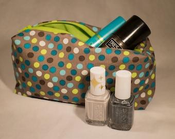 Fabric Makeup Bag, Toiletry Bag, Zippered Bag, Cosmetic Case, Storage Bag, Accessory Bag