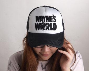 Trucker Cap Baseball Mesh Hat Snapback Cap Unisex Waynes World Truc059