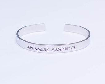 Avengers Assemble! / Comic Book Jewelry / Comic Book Gift / The Avengers Jewelry / The Avengers Gift / Captain America / Ironman