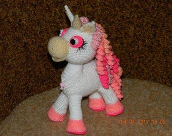 Unicorn, knitted toy, pony, mild igrushkaI