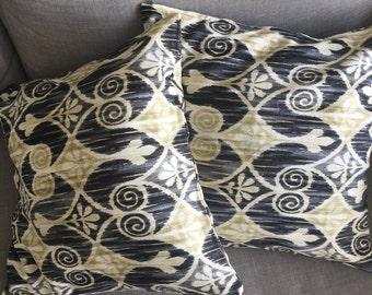 Ikat Style Print Outdoor Cushion Throw Pillow 18x18inch 45x45cm Cushion Cover