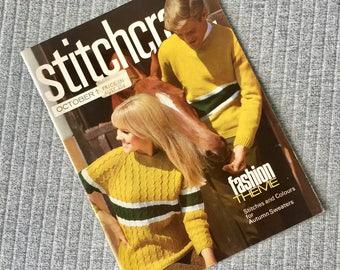 Stitchcraft Fashion Theme Autumn Knitting Patterns October 1966 Issue
