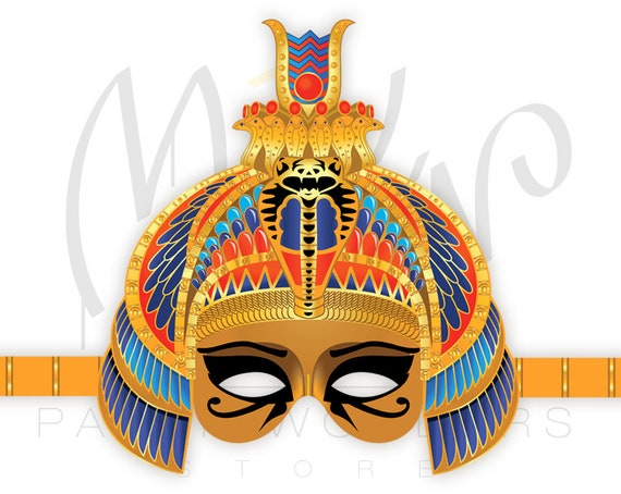 Ancient egyptian headdress template for Egyptian masks templates