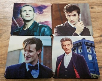 The Doctors Fabric Coaster Individual/ Set