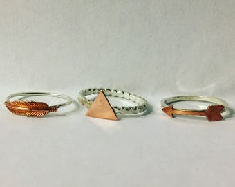 Sterling Silver & Copper Rings