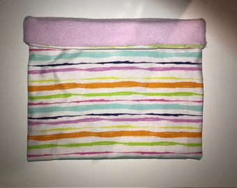Purple strip cuddle bag