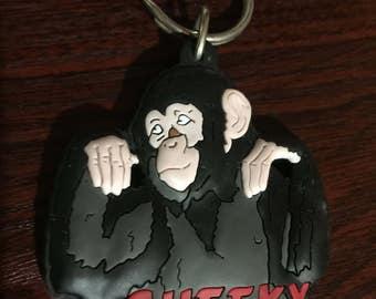 Cheeky Monkey Rubber Keychain/Keyring