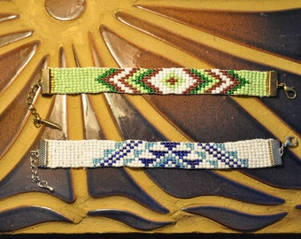 Woven beads bracelet