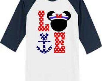 Custom Disney Cruise shirt - Disney Shirt- Mickey Mouse or Minnie Mouse version