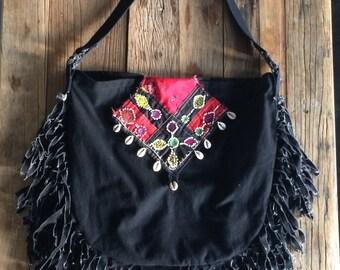 Shoulder bag Natural dye and Organic cotton