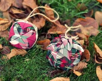 Pair of Christmas balls
