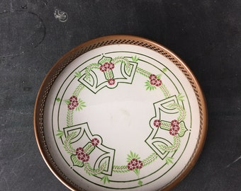 porcelain and copper wine coaster