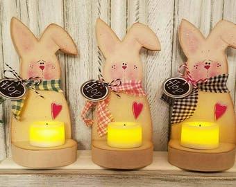 Cute Easter Bunny Votive Holder