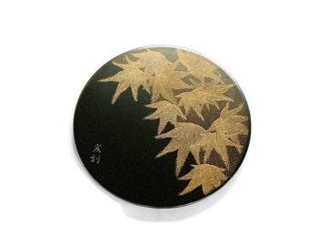 Lacquer Urushi Painting Japanese Art  Momiji (Maple)